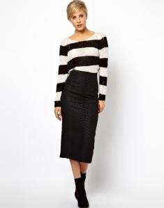 High waisted skirt in animal jacquard ASOS