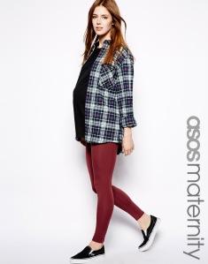 ASOS Maternity Leggings in Ox Blood, $24