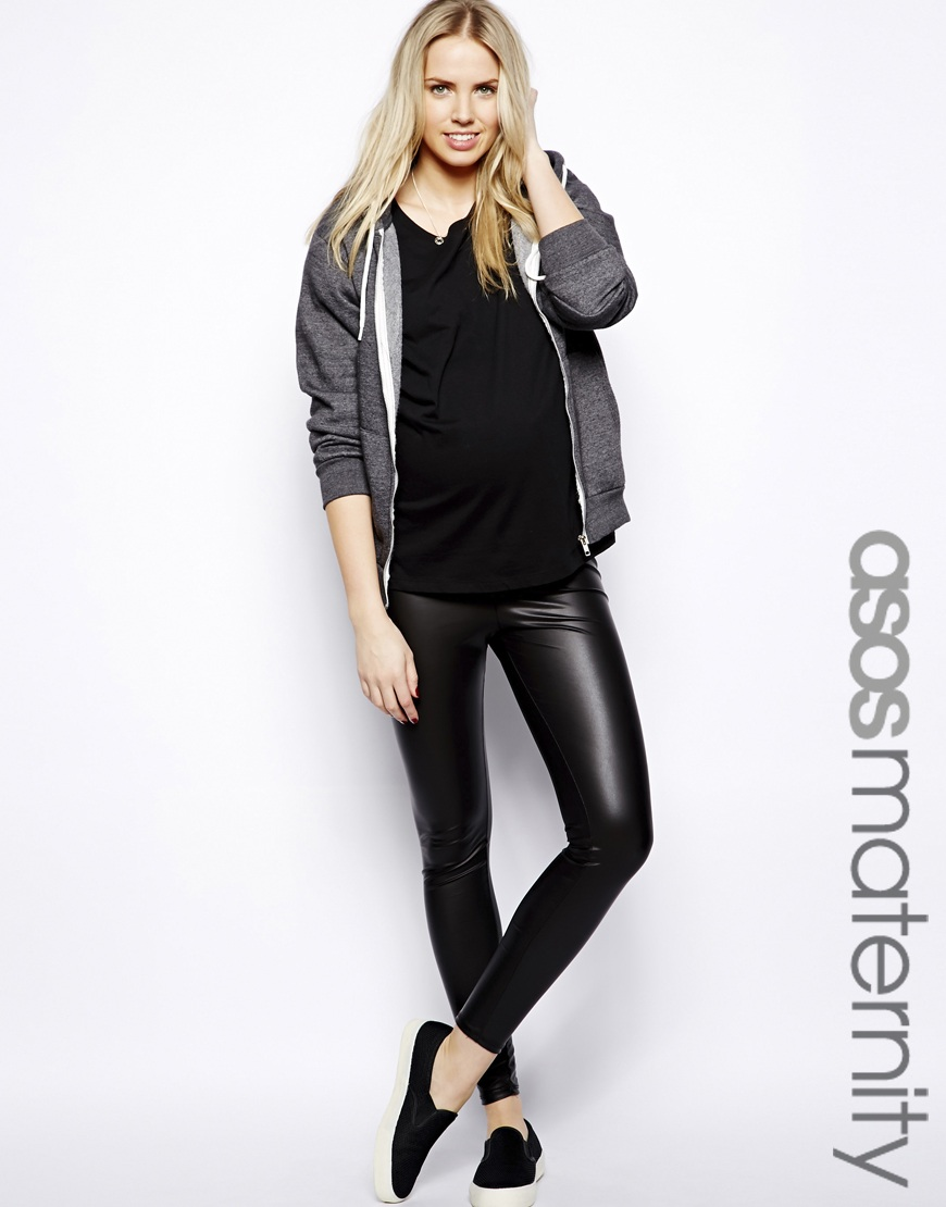 Mat leather-look leggings available on asos.com, $41