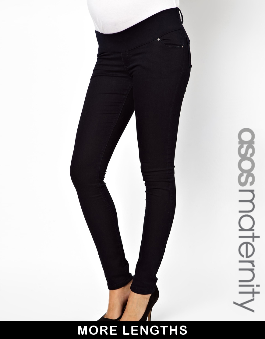 Skinny maternity jeans available on asos.com, $57
