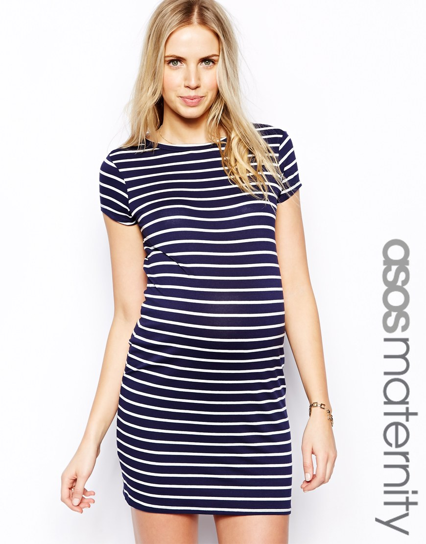 Striped t-shirt dress available on asos.com, $51