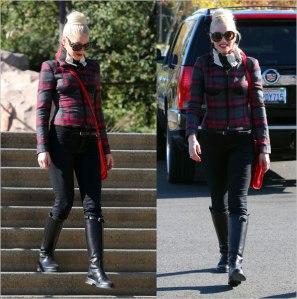 Gwen Stefani in long boots